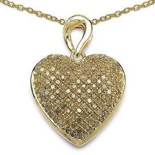 Champagne Natural Fine Diamond Necklaces & Pendants
