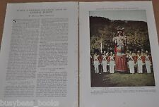 1932 magazine article about Styria AUSTRIA, history, people, color photos