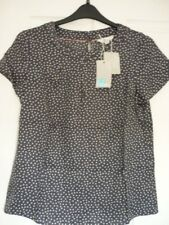 BODEN CAREY TOP SILK MIX WHALE GREY SCATTERED SPOT. UK 22, EUR 48-50, US 18 BNWT