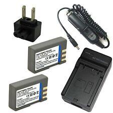 Charger + 2x Battery for Nikon DSLR D40 D40X D-40 Digital SLR D60 D3000 D5000