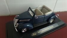 1937 Ford V8 Hot Rod in Metallic Blue - 1:43 scale