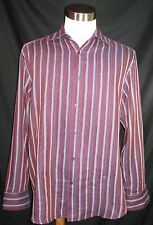 JHANE BARNES Men's Shirt size L  silk/cotton
