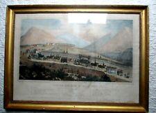 Ancien tableau Empire enterrement Napoléon sainte Hélène 9 mai 1821 rarissime
