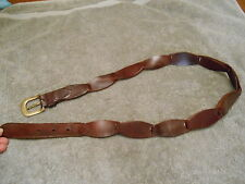 Leather Belt W Brass Buckle - L 40'' Long Including The Buckle Made In India
