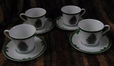 4 Georges Briard Yule Tide holiday cups & saucers