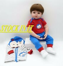 "18"" Rinascere Bambino Lifelike Reborn Baby Doll Vinyl Kids Silicone Toy Gift IT"