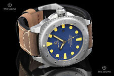 Giorgio Milano Explorer Blue Dial Automatic Leather Strap Watch w/ Extra Strap