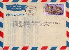 NIGERIA - INTERESSANTE AEROGRAMMA DA LAGOS A NAPOLI - 1976