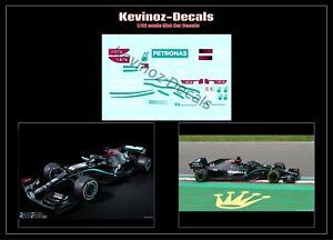 1/32 Scale Decals for Policar Modern F1 - Mercedes W11, Hamilton, Bottas