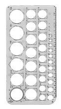 Círculo de la plantilla de la plantilla de dibujo 1 - 36 Mm + Bordes En Dif Tamaños Para Dibujo Arcos