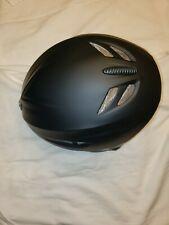Snowboard helmet matte black with silver vents. Size large.