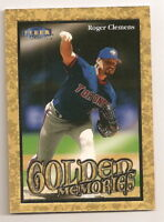 1999 FLEER TRADITION ROGER CLEMENS GOLDEN MEMORIES INSERT CARD (BLUE JAYS)