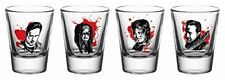 OFFICIAL THE WALKING DEAD FACES SET OF 4 SHOT GLASSES PARTY GLASS NEW