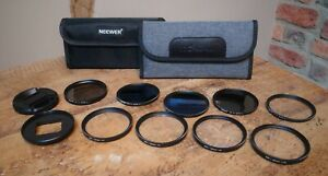 Neewer and JJC Gopro Filter Adaptor and Macro and  ND filters for Gopro Hero 7
