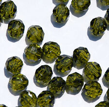 Translucent Olive 8mm Faceted Round Beads 500pc made in USA