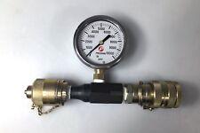 Precision Brand Spain 0-10000 PSI Pressure Gauge, Liquid-Filled + Extras