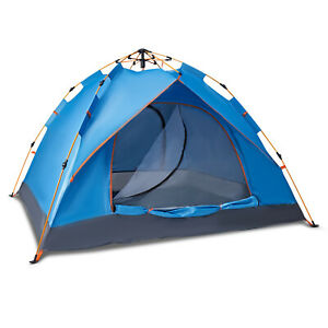 Pop Up Tent Automatic 3-4 Man Person Family Tent Camping Festival Shelter Beach