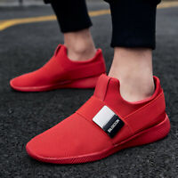 Mens Running Shoes Breathable Cross Training Shoe Slip On Sneakers Lightweight