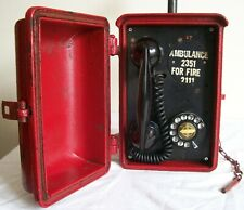 Antique Vtg Cast Iron Kellogg Police Fire Railroad Phone Call Box Original Paint