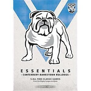 NRL Essentials Canterbury Bankstown Bulldogs - brand new 3dvd set - free post!