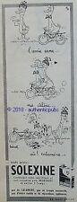 PUBLICITE SOLEXINE VELOSOLEX  BD AMIE CANE SIGNE BARBEROUSSE DE 1958 FRENCH AD