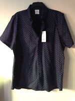 MENS SHIRT SIZE XL,Short Sleeved, Navy Blue & White Spots.New With Tags.Burton