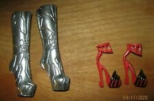 Monster High 13 Wishes Catty Noir Doll Silver Boots + Red & Black Heels VGC