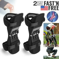 2Pcs Knee Pads Booster Joint Support Brace Lift Squat Sport Power Spring Force