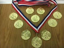 Pack of 10 Football Medals on Ribbons, Perfect for a Football Birthday Party