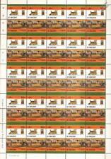 1883 Thomas Edison's THE JUDGE Electric Train 50-Stamp Sheet / LOCO 100 LOTW