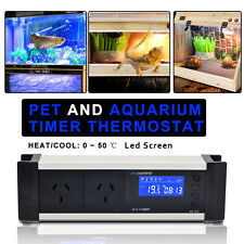 LCD Reptile Snake Thermostat Timer Aquarium Temp Controller Heat Cooling AU Plug