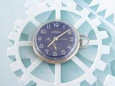 CORNAVIN Swiss Vintage men's mechanical Small Pocket Watch blue15 jewels