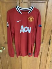 Chicharito Manchester United Nike Red Jersey Long Sleeve Mens Small UEFA