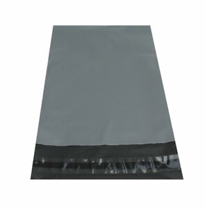 """Large Grey Mailing Post Bag 13"""" x 19"""" with 2"""" lip. 100% Recycled, eco-friendly"""