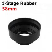 58mm Three Way Soft Rubber Lens Hood for Digital Film Camera