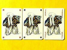 3 White Hair Lady in Kimono Jokers Single Swap Playing Cards Triple Joker Set