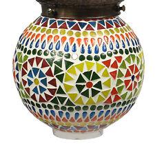 Hänge Mosaik Lampen Rund Orientalisch Dekoleuchte Bunt Color 14 - 16 cm Ø Nr. 9