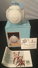 Lladro Bola Navidad Christmas Ornament in Box #5730 Dated 1990 Pink White Ball