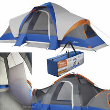 Big 8-Person 3-Room Cabin Tent with Large Sun Canopy Windows Outdoor Camping