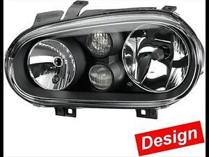 1EL 007 700-SET Hella Hauptscheinwerfer SET schwarz  VW Golf 4 IV Nebelscheinwer