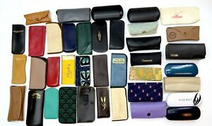Lot of 38 Vintage Eyeglasses and Sunglasses cases EMPTY - Hard and Soft mix