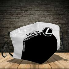 Lexus MA Face Mask 3D Unisex 100% Cotton For Fans