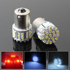 2x BA15S 50 SMD White LED 1156 Brake Backup Reverse Light Bulb Globe Lamp 12V OZ