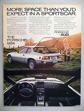 Porsche 924 PRINT AD - 1978