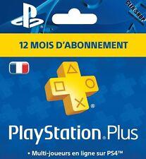 PLAYSTATION PSN Plus / 12 Mois / PS4 / ID FRANÇAIS ! (Lire description)