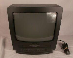 Samsung TV / VCR Combo Retro Gaming No Remote Model CXJ1331 Turbo Rewind