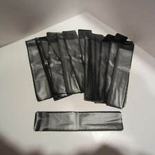 LOT OF 20 LARGE BLACK CLEAR FRONT VELVET PEN POUCH/SLEEVE HOLDER