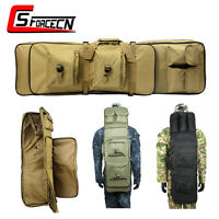 100CM Dual Gun Rifle Bag Backpack Case with Shoulder Strap Army Airsoft Tactical
