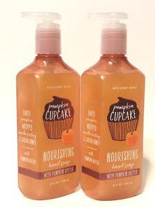 NEW 2 PUMPKIN CUPCAKE BATH & BODY WORKS NOURISHING HAND SOAP WASH 8 FL OZ