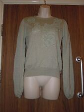 Zara Pale Sea Green Lace Sweater Size M BNWT